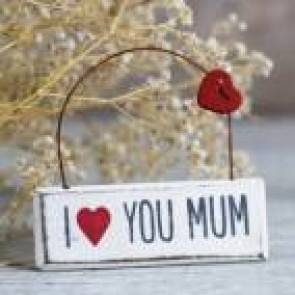 Colgante I love you mum