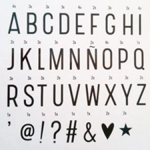 letras para lightbox