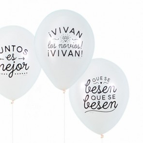 Mr Wonderful globos boda (10 uds.)