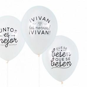 Mr Wonderful globos boda (10 uds.)