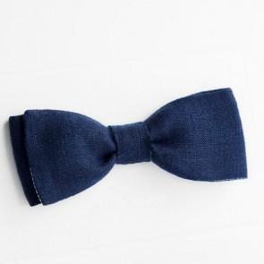 Pajarita de novio reversible tonos azules