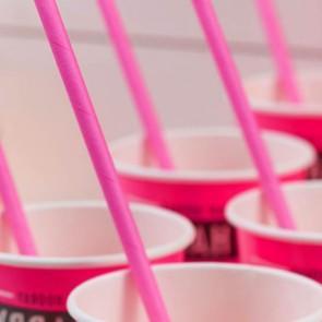 Cañitas rosa neón (25 uds.)