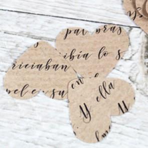 Confetti Corazones craft palabras