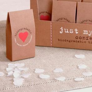 Confetti biodegradable en pack kraft
