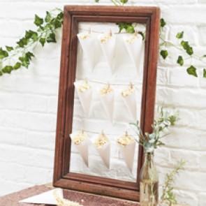 Cono para confetti de boda