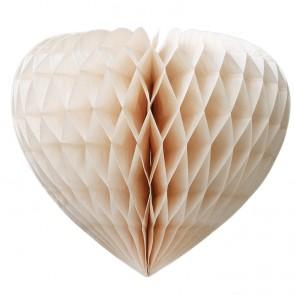 Corazón nido de abeja color blanco