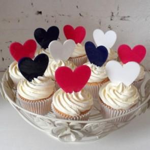 Minicaketopper corazón cupcakes