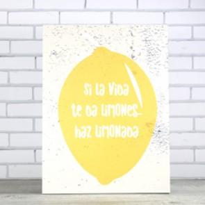 Cuadro Si la vida te da limones