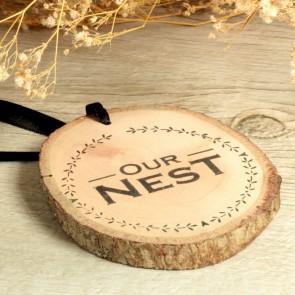 Colgante de madera Our Nest