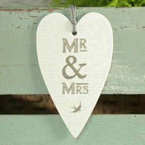 Etiqueta grande Mr Mrs