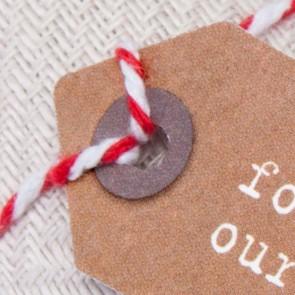 Etiquetas regalo Thank You kraft pequeñas (10 uds)