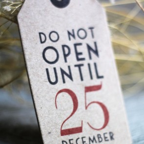 Etiquetas kraft Do Not Open until 25 December (6 uds)