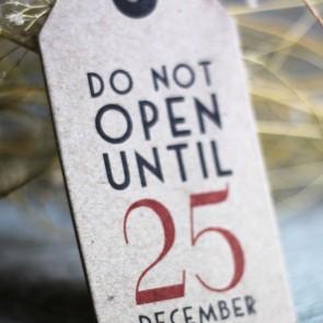 Etiquetas kraft Do Not Open until 25 December (6 uds)