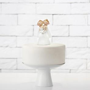 Figura novias pastel