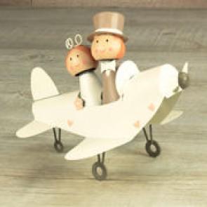 Figura tarta novios avion