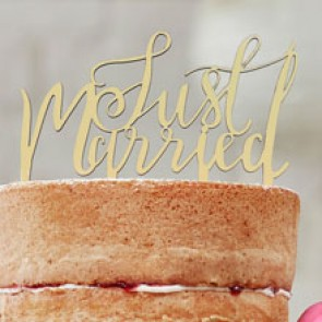 Adorno de tarta Just Married
