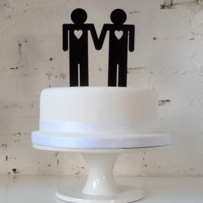 Ellos, adorno pastel de boda gay