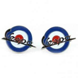 Gemelos Logo Vespa Azules