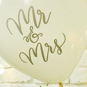 Globos Mr Mrs (10 uds.)