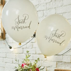 Globos Just Married