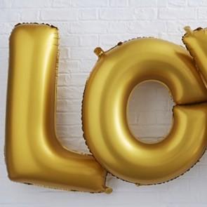 Globos Love dorados