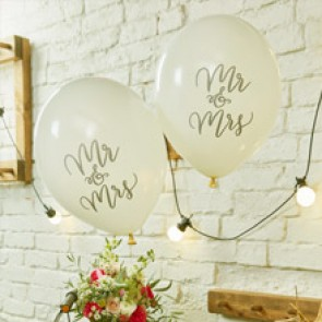 Globos Mr Mrs