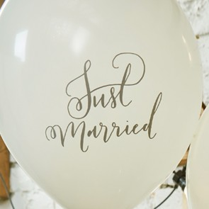 Globos Just Married (10 uds.)