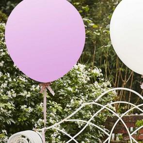 Globos grandes blancos y rosa palo 90cm