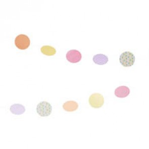 Guirnalda círculos de papel