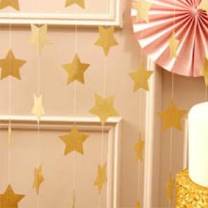 Guirnalda de estrellas de papel