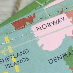 Guirnalda mapa vintage