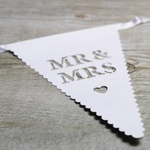 Guirnalda de papel Mr and Mrs