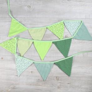 Guirnalda de tela color verde
