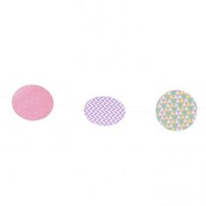 Guirnalda de círculos geométricos