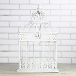 jaula de boda blanca