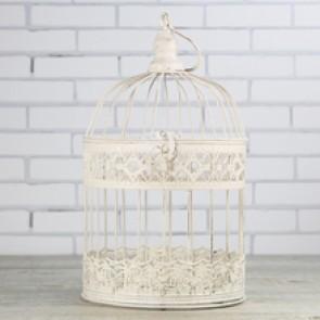 Jaula decorativa blanca
