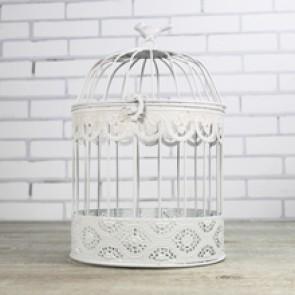 Jaula decoración blanca