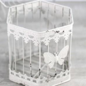 Jaula de decoración blanca