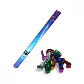 Lanzador manual serpentinas multicolor metalizado 76 cm.