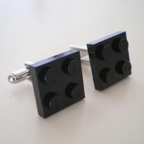 Gemelos pieza LEGO 2x2 negro