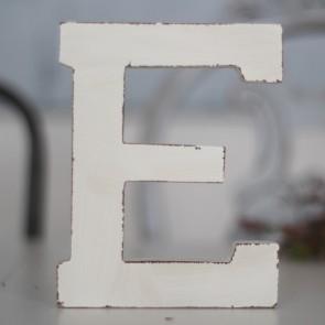 Letras de madera blanco decapado (15x12)