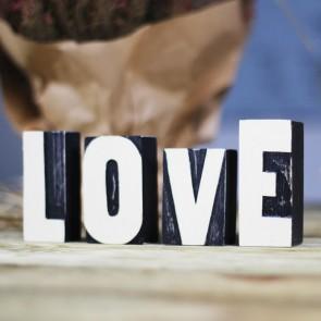 Letras Love Negras
