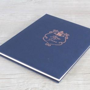 Libro de firmas azul marino
