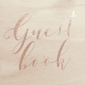 Libro de firmas de madera