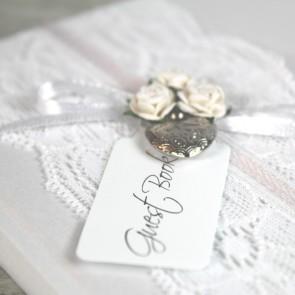 Libro de firmas boda vintage