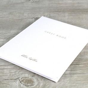 Libro de invitados blanco