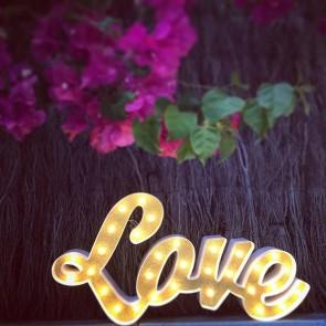 Love luminoso retro