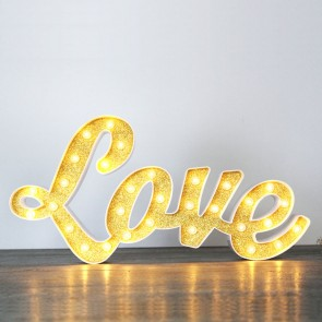 Love luminoso retro