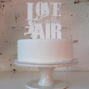 Love is in the air, adorno de tarta