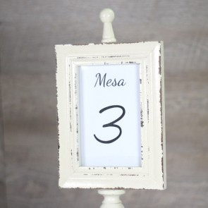 Mesero de bodas marco vintage